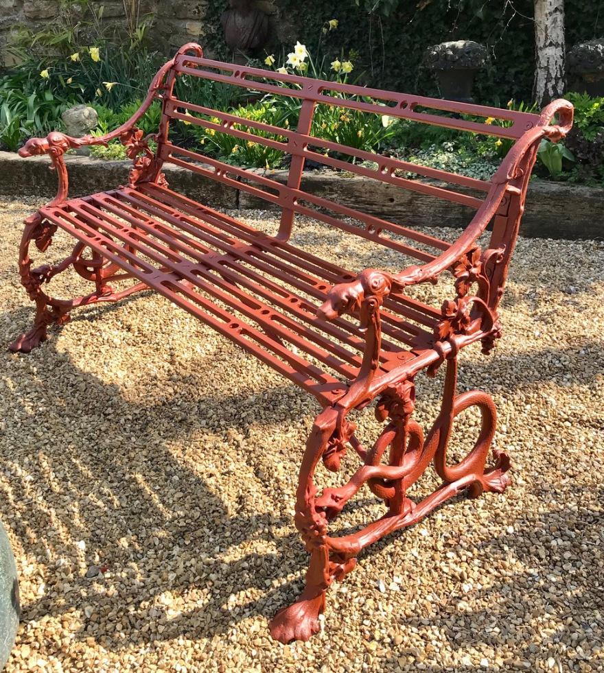 Antique Coalbrookdale Bench